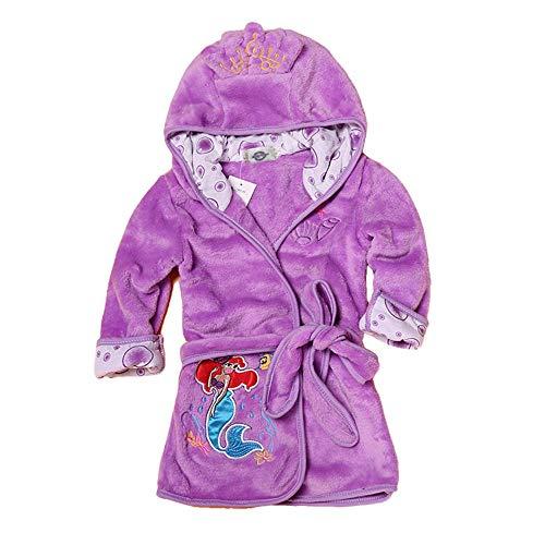 MedusaABCZeus Morgenmantel Nachtwäsche aus edler mit,Bademantel Damen Herren Unisex mit,Jungen und Mädchen Bademäntel, Kinderheim Nachtkleid-lila_ 110cm