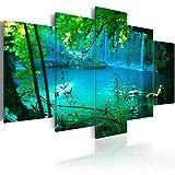 murando Impression sur Toile intissee 200x100 cm Tableau Tableaux Decoration Murale Photo Image Artistique Photographie Graphique 5 Parties Mer Cascade c-A-0002-b-n
