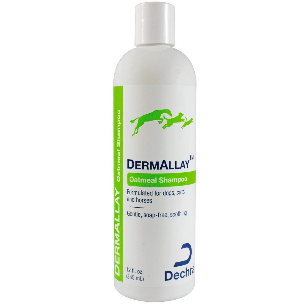 Amazon Com Dechra Dermallay Oatmeal Shampoo For Cats And Dogs 12 Oz Pet Supplies