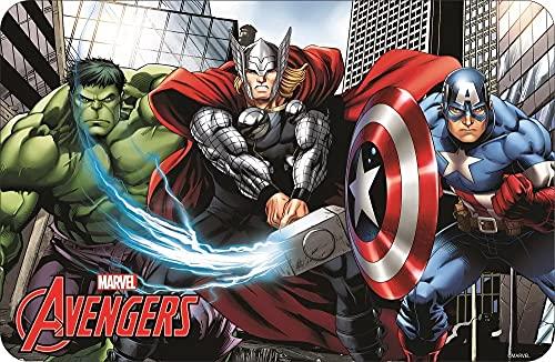 Tovaglietta Americana Singola Plastificata Sottopiatto per Bambini 43x28cm (Avengers)