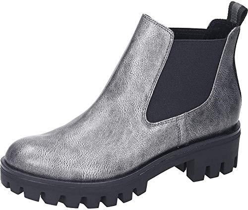 Tamaris Damen Chelsea Boots Silber/Grau, Schuhgröße:EUR 40