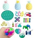 MPUOYHK 30pcs TIK Tok Fidget Toys Pack, Fidget Pack Sensorial Alivia el estrés Ansiedad Fidget Toy Set para niños Adultos, Marble Mesh Push Pop Bubble Fidget Juguete sensorial (Color : B)