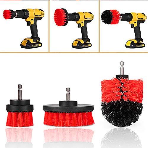 Car Wash Kit, 3 Stück/Set von Drill Waschbürste Kits, für die Entfernung von hartnäckigem Rost und Rückstände, für Auto-Schönheit, Fliesenfuge Badewannen, Auto-Reinigungs-Kits