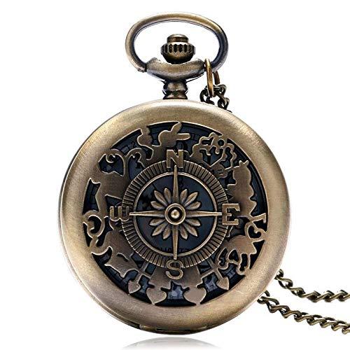XIAOJIAN Exquisito reloj de bolsillo: reloj de bolsillo, retro bronce colgante de cuarzo mini vintage lindo plateado búho Único collar de la cadena de la cadena para niñas Boys KidsCommodity Código: L