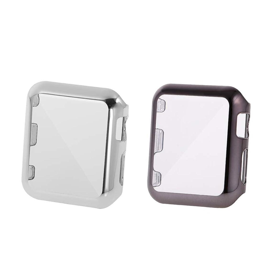 簡潔なあそこバンApple Watch Series 2(42mm)用の2個の保護カバーケースフルアラウンドカバー保護ケースの交換