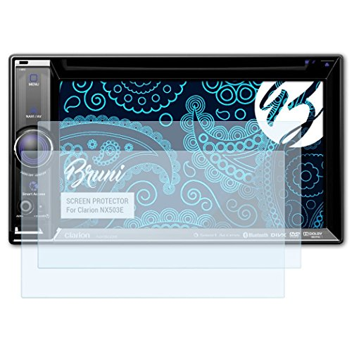 Bruni Schutzfolie kompatibel mit Clarion NX503E Folie, glasklare Displayschutzfolie (2X)