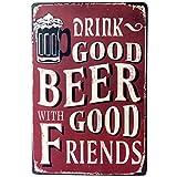 Metal póster vintage Placa Chapa Cartel Decoración de pared para Bar de Cerveza Cafetería Pub 20 x 30 cm