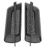 Qiilu prese daria auto, universale 2 pezzi Autoadesivo decorativo universale per griglia di aspirazione della griglia di aspirazione del flusso d'aria lato auto (Noir)