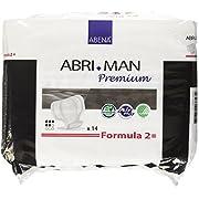 Abena Abri-Man Premium, Air Plus, Formula 2, Male Pouch Pads, 14 Count