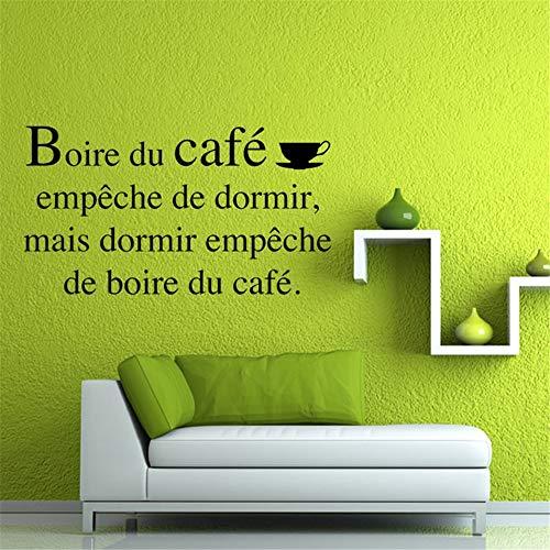 Wandaufkleber Kinderzimmer wandaufkleber 3d Französische Kaffee-Sprichwörter Wohnzimmer Schlafzimmer