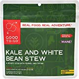 GOOD TO-GO Kale and White Bean Stew - Double Serving | Dehydrated Backpacking and Camping Food | Lightweight | Easy to Prepare