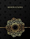 Reservations: Restaurant Booking Logbook for Hostess, 365 Day Table Organizer, Daily Guest Appointment, Schedule Tracker, Large Size