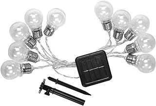 Mobestech Solar String Bulbs Hanging Lights Retro 10 LED Decorative Waterproof Night Lights for Outdoor Bedroom Garden (Bl...