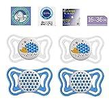 Chicco Light Lumi Lot de 4 tétines en silicone souple sans BPA 16 à 36 mois avec 2...