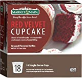 Market & Main OneCup, Red Velvet Cupcake, Compatible with Keurig K-cup Brewers, 18 Count