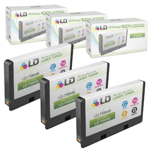 LD Remanufactured Ink Cartridge Replacement for Epson T5846 (Photo Color, 3-Pack)
