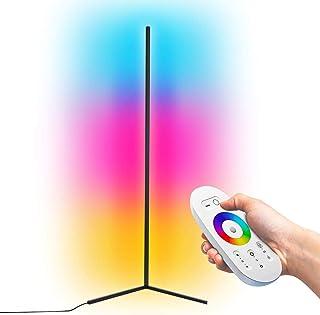 GDFGTH Moderna LED Lámpara de Pie RGB Regulable Luces de pie Coloridas Estilo Minimalista con Mando a Distancia para salón, Dormitorio o Sala de Juegos Restaurante,Negro,140cm
