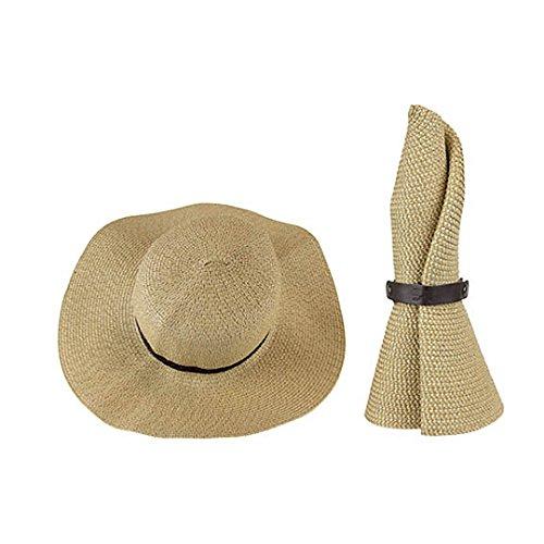 SunLily Women's Roll-n-Go Sun Hat, Tan, One Size