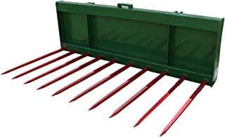 """Titan Distributors Inc. 72"""" Tine Bucket with 39"""" Spears Conus 1 Designed to Fit John Deere Hook and Pin Tractors"""