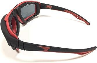 نظارات القيادة المبطنة بالرغوة للدراجات النارية من SMA عدسات سوداء