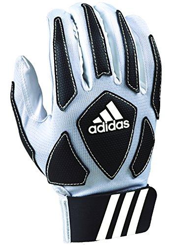 adidas Boys Scorch Destroy 2 Youth Full Finger Lineman's Glove Padded Football, White/Black, XL