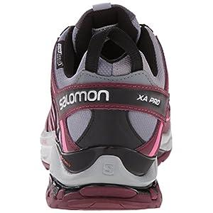 Salomon Women's XA Pro 3D CS Waterproof W Trail Running Shoe, Pearl Grey/Bordeaux/Hot Pink, 5 B US