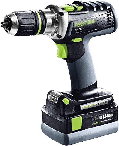Festool 768924 Akku-Bohrschrauber DRC 18/4 QUADRIVE | 18 V, 4 Gänge, max. Drehmoment: 40/60 Nm, 80 V