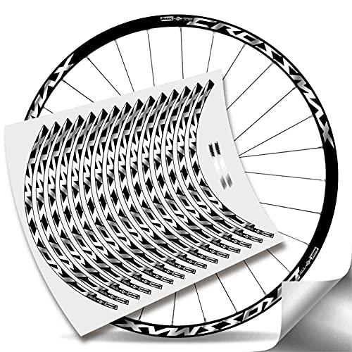 Kit Pegatinas Bicicleta Stickers LLANTA Mavic Crossmax Pro Carbon 29'' MTB BTT B (Plata Metalico)