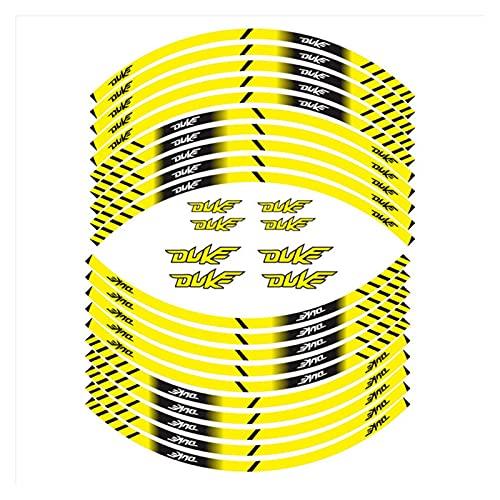 bazutiwns Accesorios para Motocicletas Etiquetas de Ruedas Exteriores Rim Decoración Reflectante Calcomanías Compatible con KTM Duke 790 200 125 390 HSLL (Color : 4)