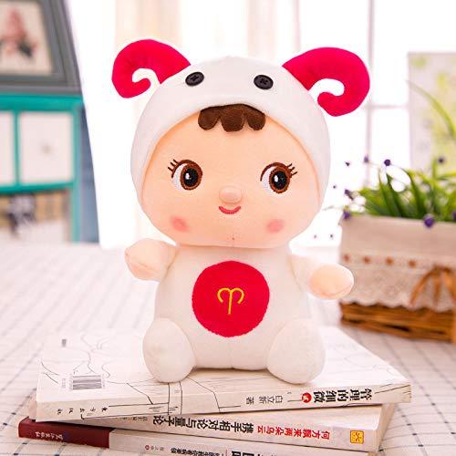 hokkk Cartoon niedlich zwölf Sternbild Puppe 25cm kleines Kissen Mädchen Puppe Plüschtier 25cm Widder