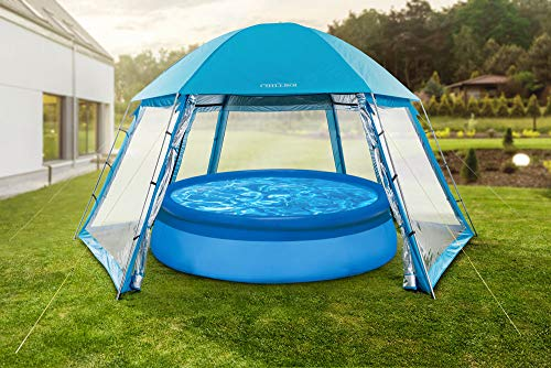 Chillroi Pooldach Aufstellpool Pool Dach 5x4,33m, Blau