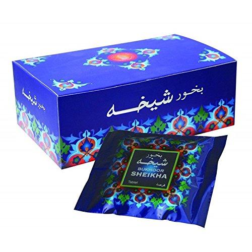Bukhoor SHEIKHA Incense Tablet from Haramain (45 gm) 4 pack