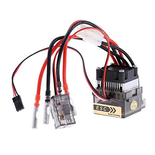 D DOLITY 320A ESC Controlador de Velocidad Electrónico w/ Fan para RC Rock Crawler Coches Vehículo