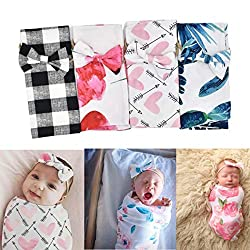 Girls Casual Cute Print Bow Shape Headband Swaddles - $4.79 (slow ship)