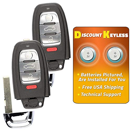 For 08-16 Audi A4 A5 Q5 A6 A7 A8 Keyless Entry Remote Smart Key Fob IYZFBSB802-2 PACK