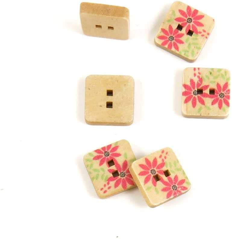 Price per 500 Max 82% OFF Pieces Sewing Cheap bargain Sew Square Flower Buttons On A8ND5 f