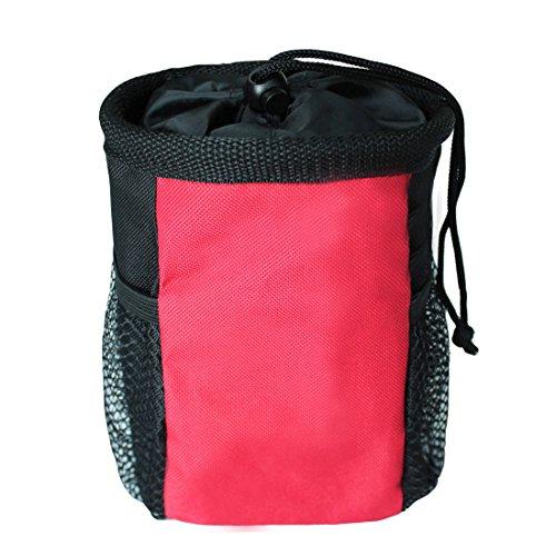 Ondoing Lekkerlitas voertas voor honden lekkerlies Dog Treat Pouch Training Bag Bag Bag Buiktas mobiele telefoon heuptas voor reizen wandeltochten, Medium, rood