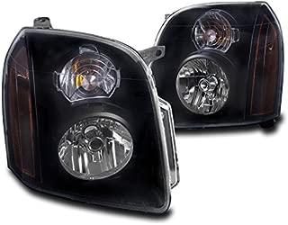 2007-2014 GMC Yukon / Yukon XL Crystal Style Headlights Black