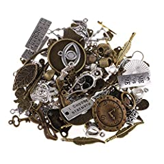 . Excellent gift for yourself or the one you car . Lots in bulk vintage antique steampunk pendant charms, can give your designs a professional touch. . Length: Approx. 0.6 - 2.6 cm; Width: Approx. 0.4 - 2.6 cm; Hole approx. 0.2 - 0.4 cm . Great DIY a...