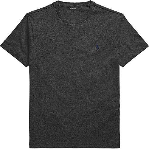 Ralph Lauren - Maglietta da uomo a girocollo, colore: Arancione, Grigio, Blu, Bianco grigio. S