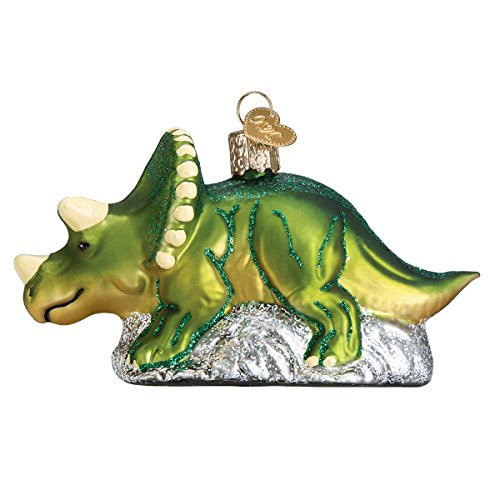 Old World Christmas Glass Blown Ornament Triceratops (12498)