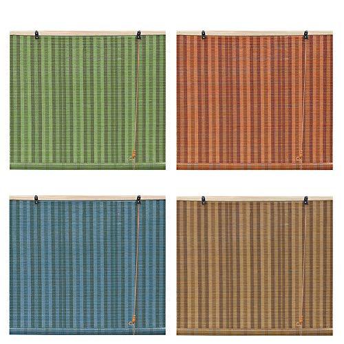 LMDX Persiana Enrollable De Bambú Exteriores 140 Cm para Ventanas, Toldo Vertical,Partición Hogar, Cocina Y Puertas, Balcón, Baño, Cortina De Bambú Interiores