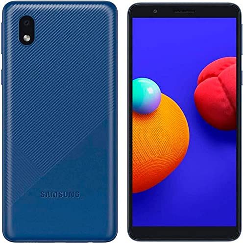 Samsung Galaxy A01 Core (16GB) 5.3', 3000mAh Battery, Android 10, Dual SIM GSM Unlocked Global 4G LTE (T-Mobile, AT&T, Metro, Straight Talk) International Model A013M/DS (64GB SD Bundle, Blue)