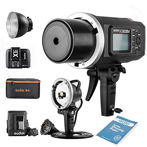 Godox AD600BM Bowens Mount Manual Versión Aire Libre Flash+ X1T-N transmisor+ Ad-h600b +CB-09 para Nikon D800 D700 D7100 D7000 D5200 D5100 D5000 D300 D300S D3200