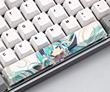 Mugen Custom Hatsune Miku Anime Spacebar Keycaps for Cherry MX Switches - Fits Most Mechanical Gaming Keyboards - with Keycap Puller