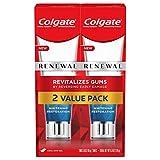 Colgate Renewal Gum Toothpaste, Whitening Restoration - Cool Mint Gel Formula (3 ounce, Pack of 2)