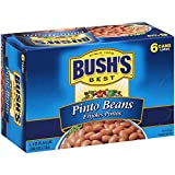 BUSH'S Canned Pinto Beans 16oz. 6 cans Family favorite recipes