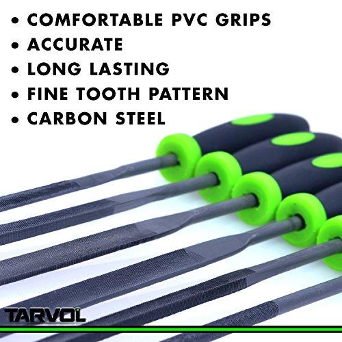 Product Image 5: Needle File Set (HIGHEST QUALITY 6 PIECE SET) Hardened Alloy Strength Steel – Mini Needle File Set Includes Flat, Flat Warding, Square, Triangular, Round, and Half-Round File.
