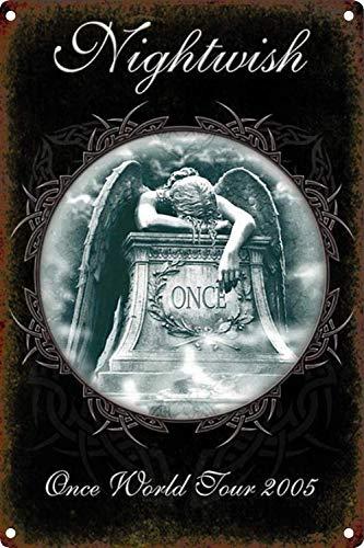 CHUNZO Nightwish Wand Zeichen Kreativität personalisierte Metall Plaque Kunst Vintage Dekoration Blatt Handwerk hängen Poster Cafe Bar Garage