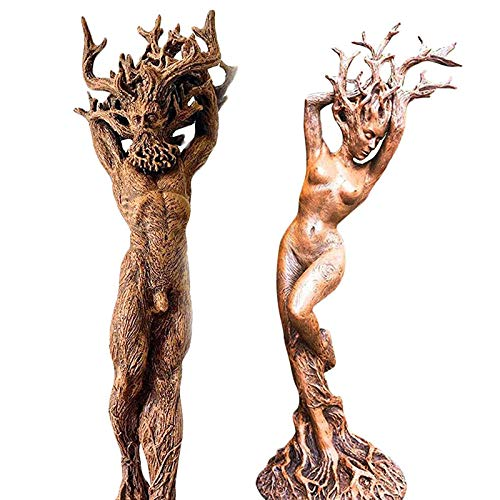 FPNUIOM Perfect Fish Tank Accessories Forest Gods and Goddesses Fish Tank Ornaments(2 pcs) (Both)